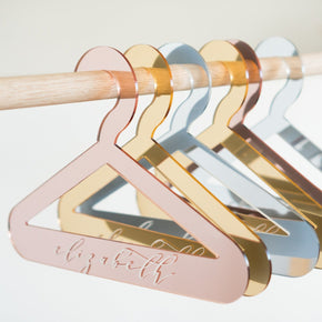 Personalised Mirror Acrylic Coat Hangers