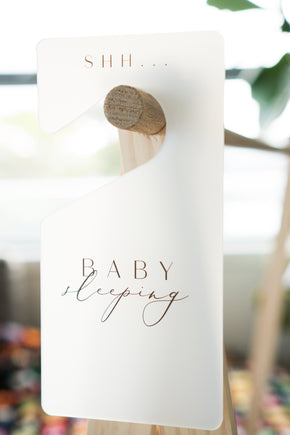 Monochrome Baby Sleeping Plaque
