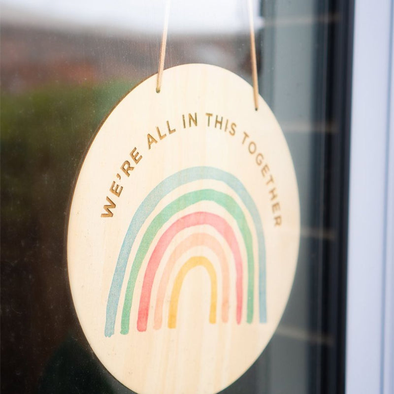 #ChasetheRainbow - Rainbow Plaque