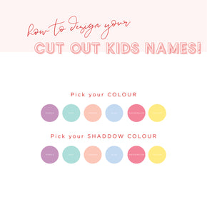 Playful Pastels Cut Out Kids Name