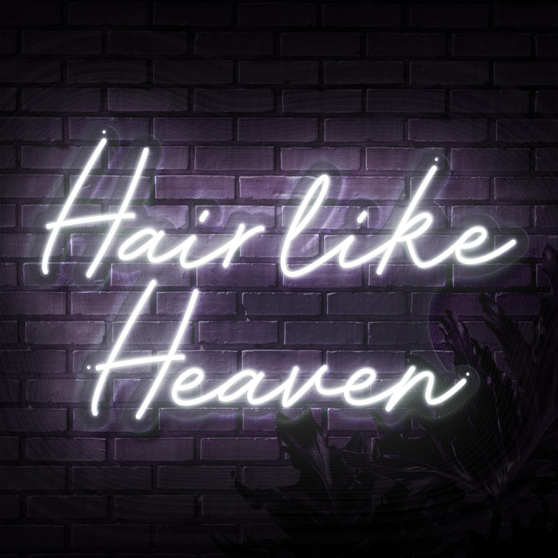 Hair Like Heaven Neon Sign