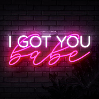 I Got You Babe Block Neon Sign