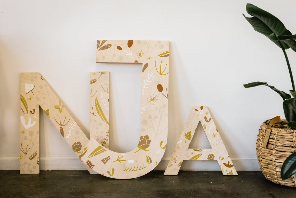 Printed Wall Letters