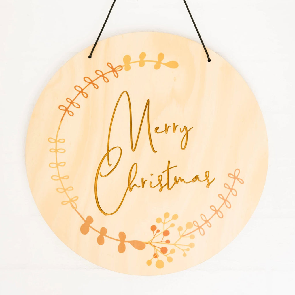 Timber Merry Christmas Plaque