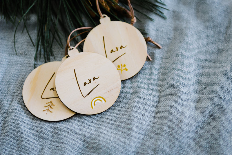 Timber Christmas Ornament