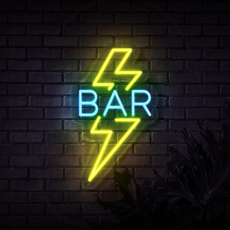 Lightning Bar Neon Sign
