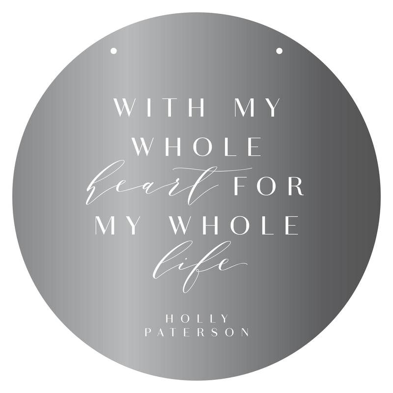 My Whole Heart Mirror Plaque