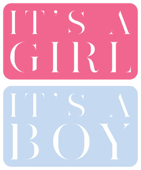 Its a Boy / Girl Pastel Plaque