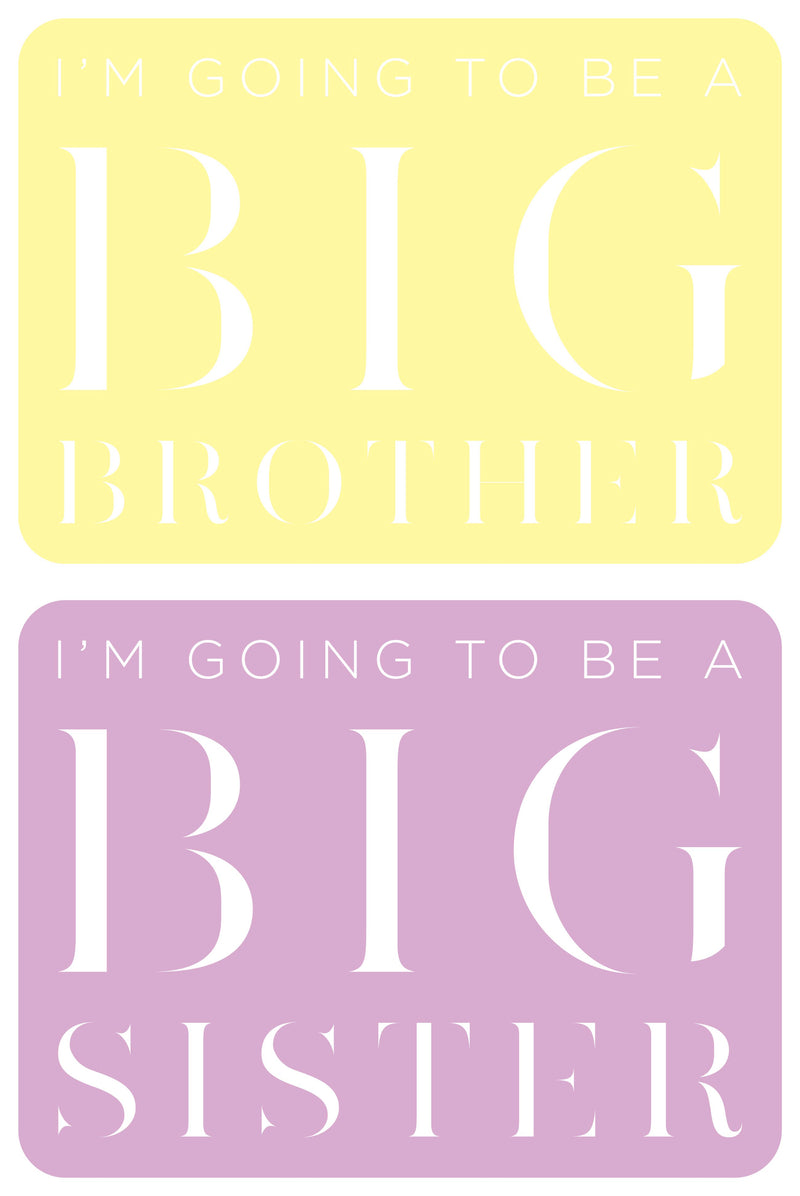 Big Brother, Big Sister Mirror Plaque
