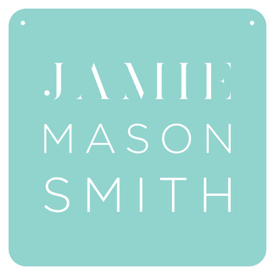 Personalised Pastel Plaque