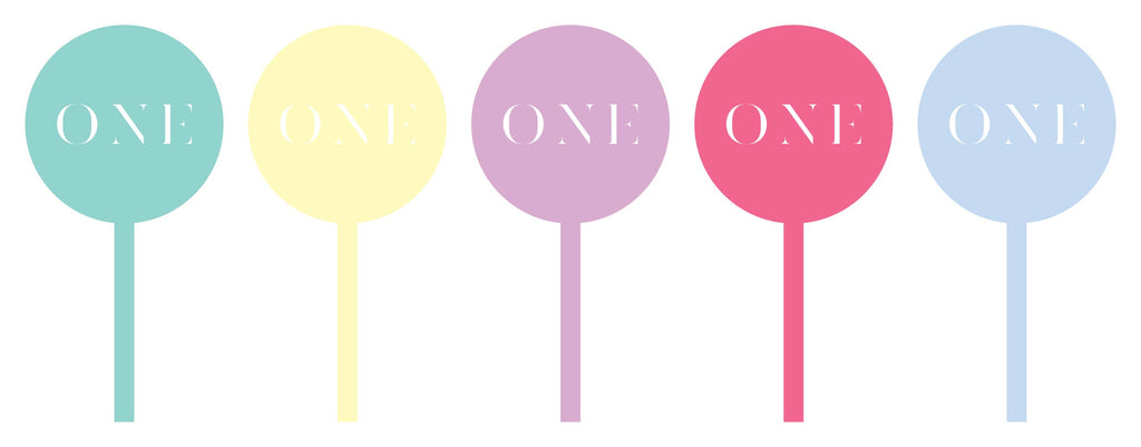 Pastel Cupcake toppers