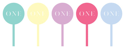 Pastel Acrylic Cupcake Toppers