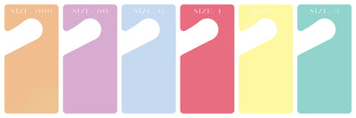 Pastel Clothes Dividers