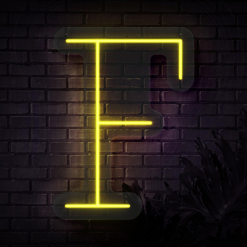 Personalized Initial Letter F Neon Sign