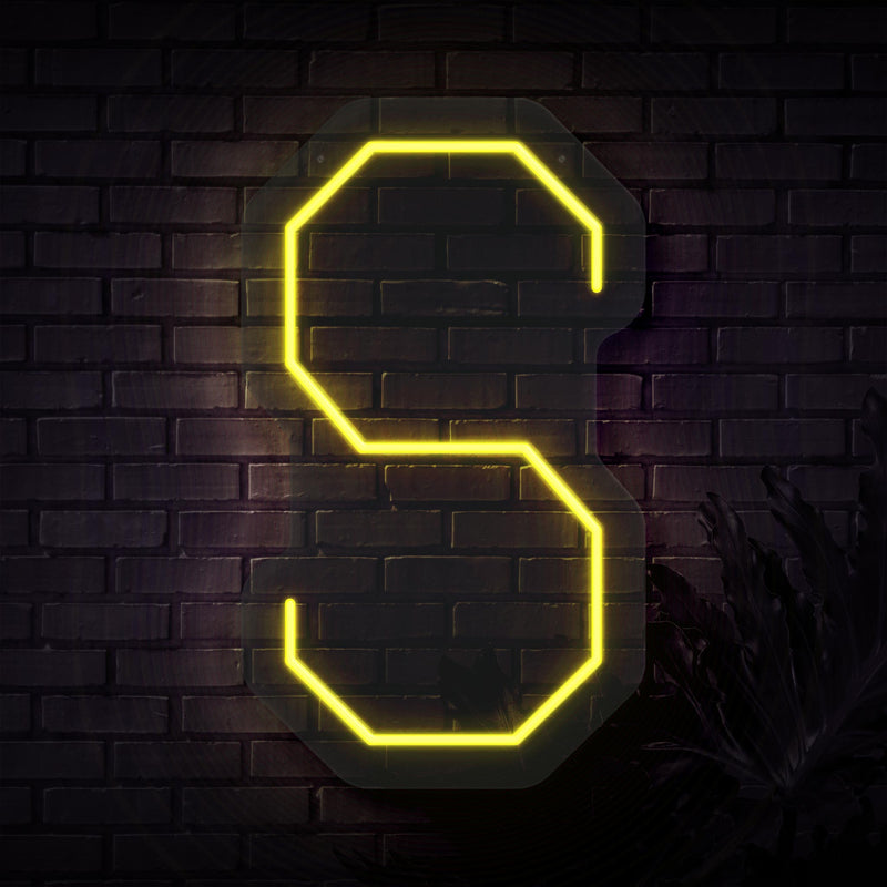 Personalized Initial Letter S Neon Sign