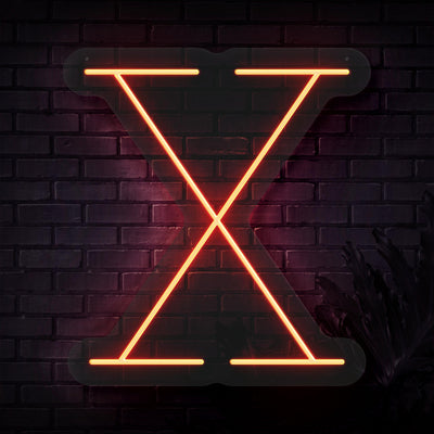 Personalized Initial Letter X Neon Sign