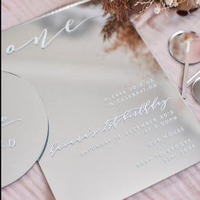 Mirror Acrylic Invites