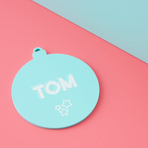 Playful Pastels Christmas Ornament