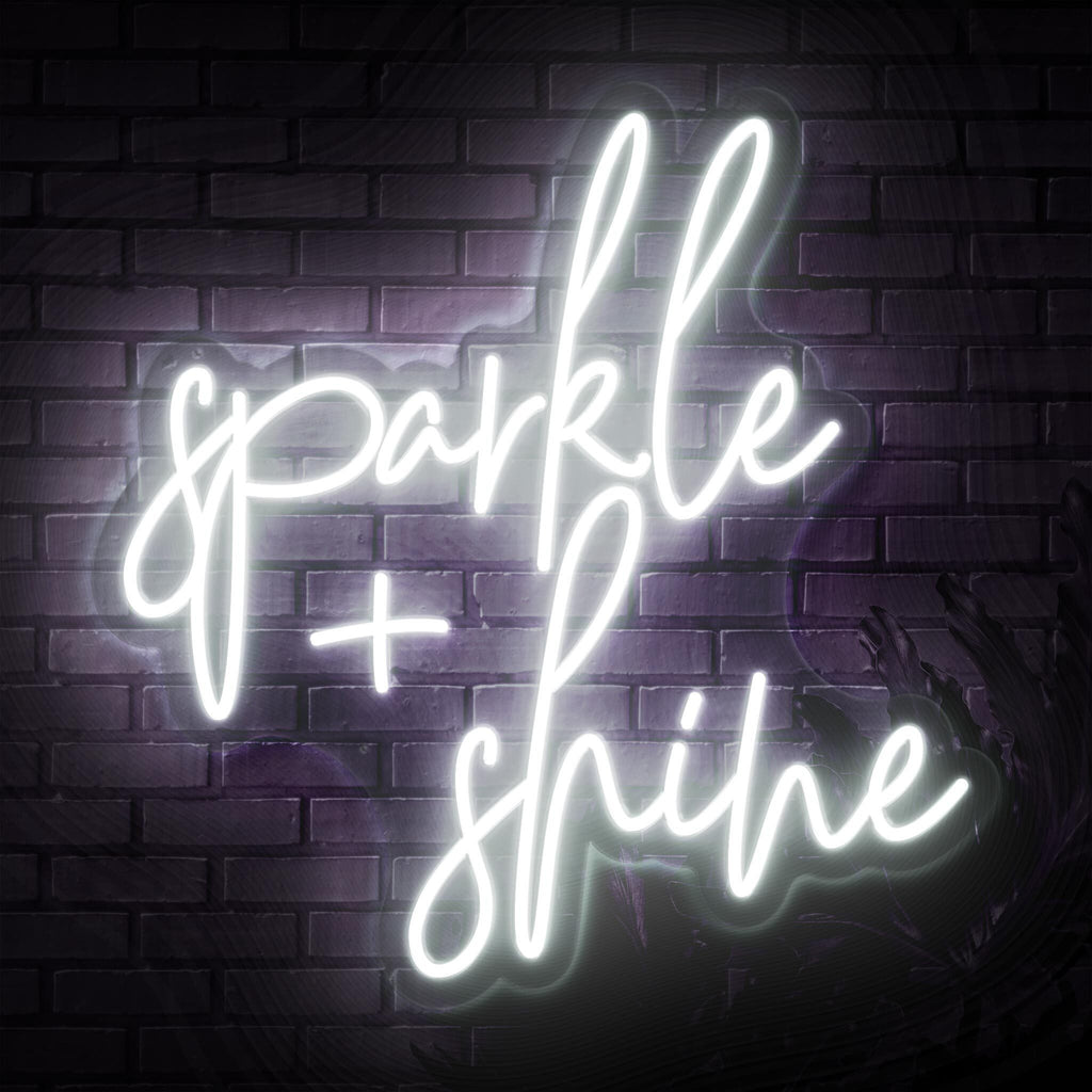 Sparkle & Shine Neon Sign