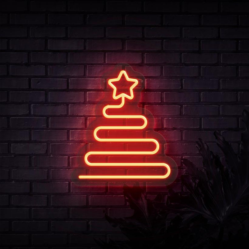 Star Tree Neon Sign