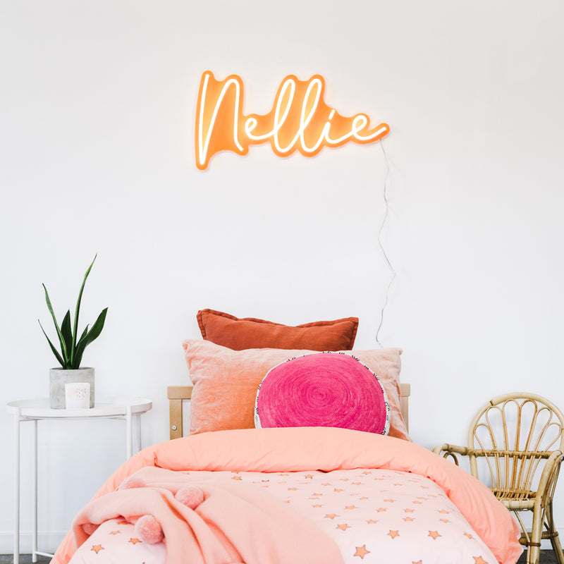 Orange Name Neon Sign