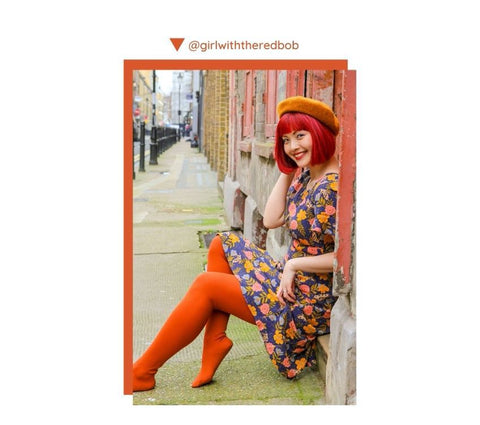 Rustc Ginger tights as modelled by instagram's girlwiththeredbob