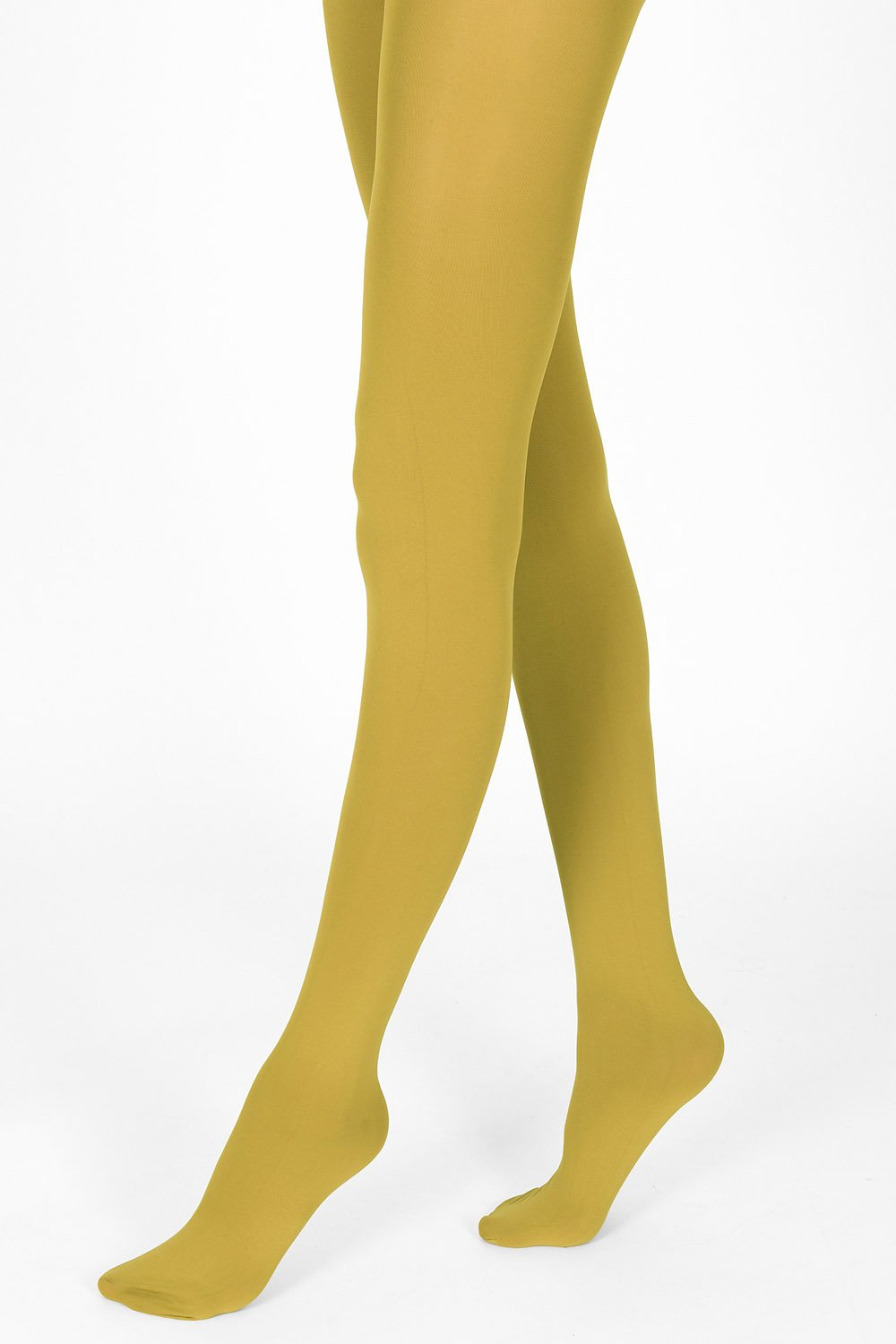 mustard tights 100 denier 1