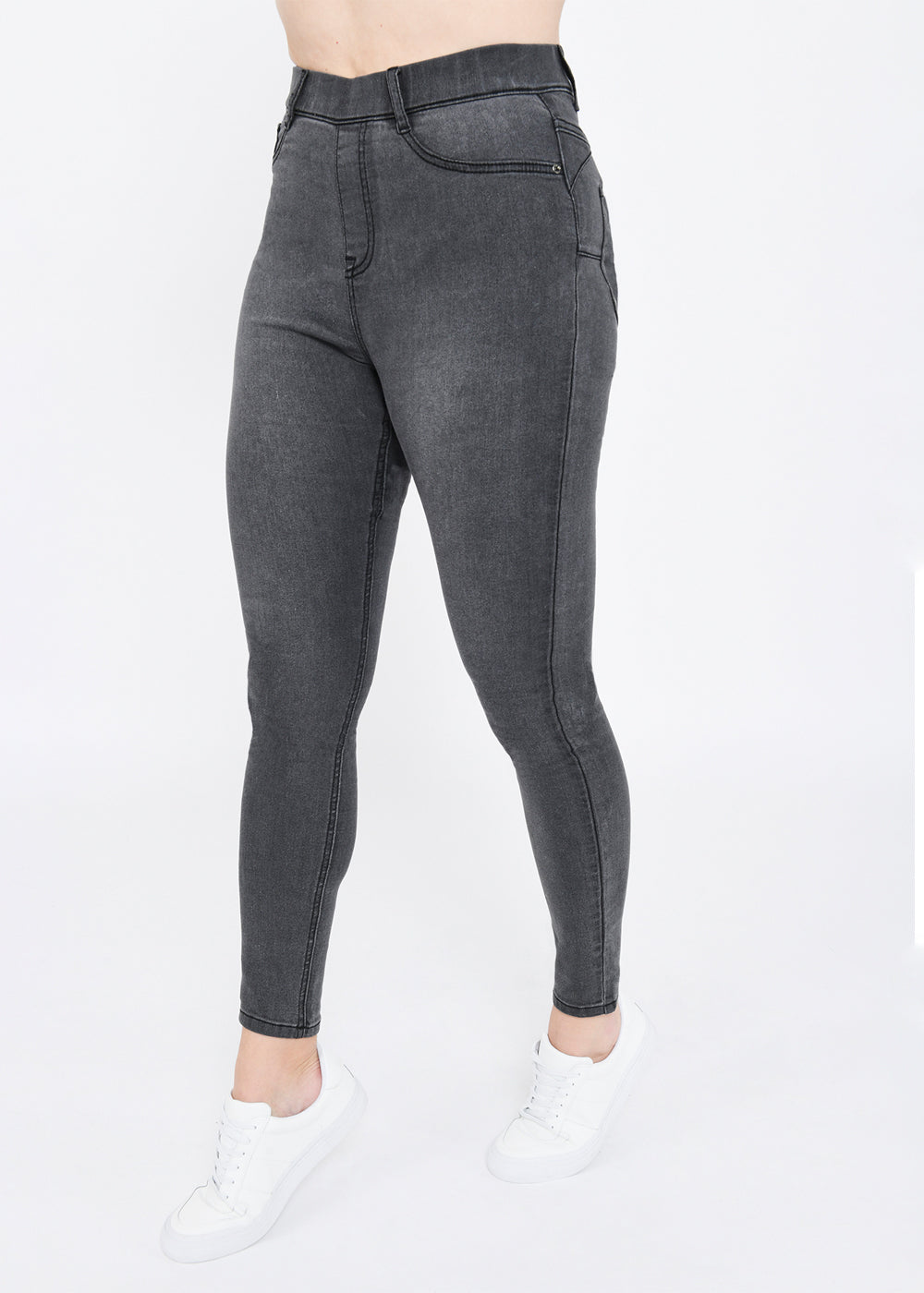 Grey Ankle Grazer Jeggings