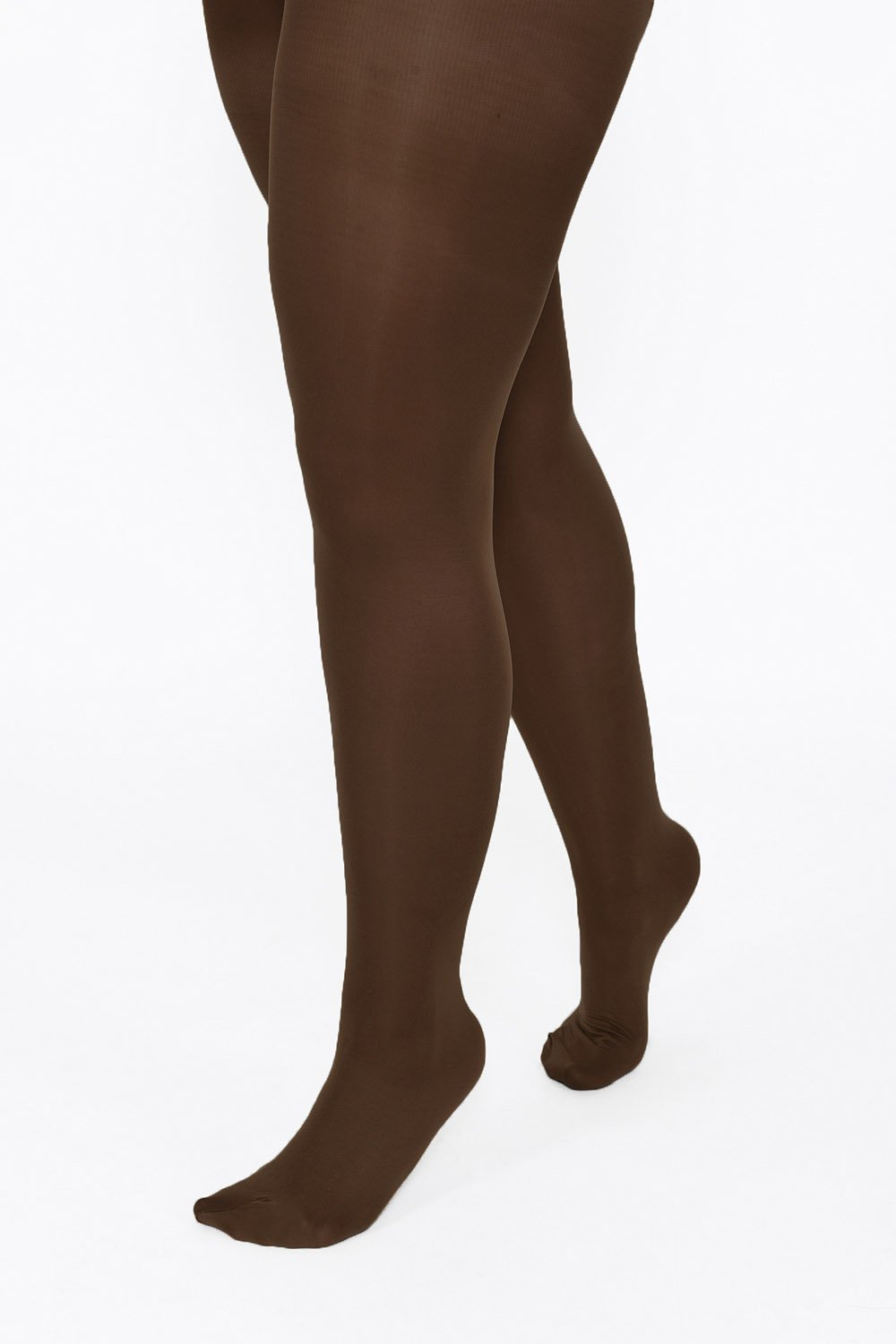 Plus Size Dark Brown 100 Denier Tights