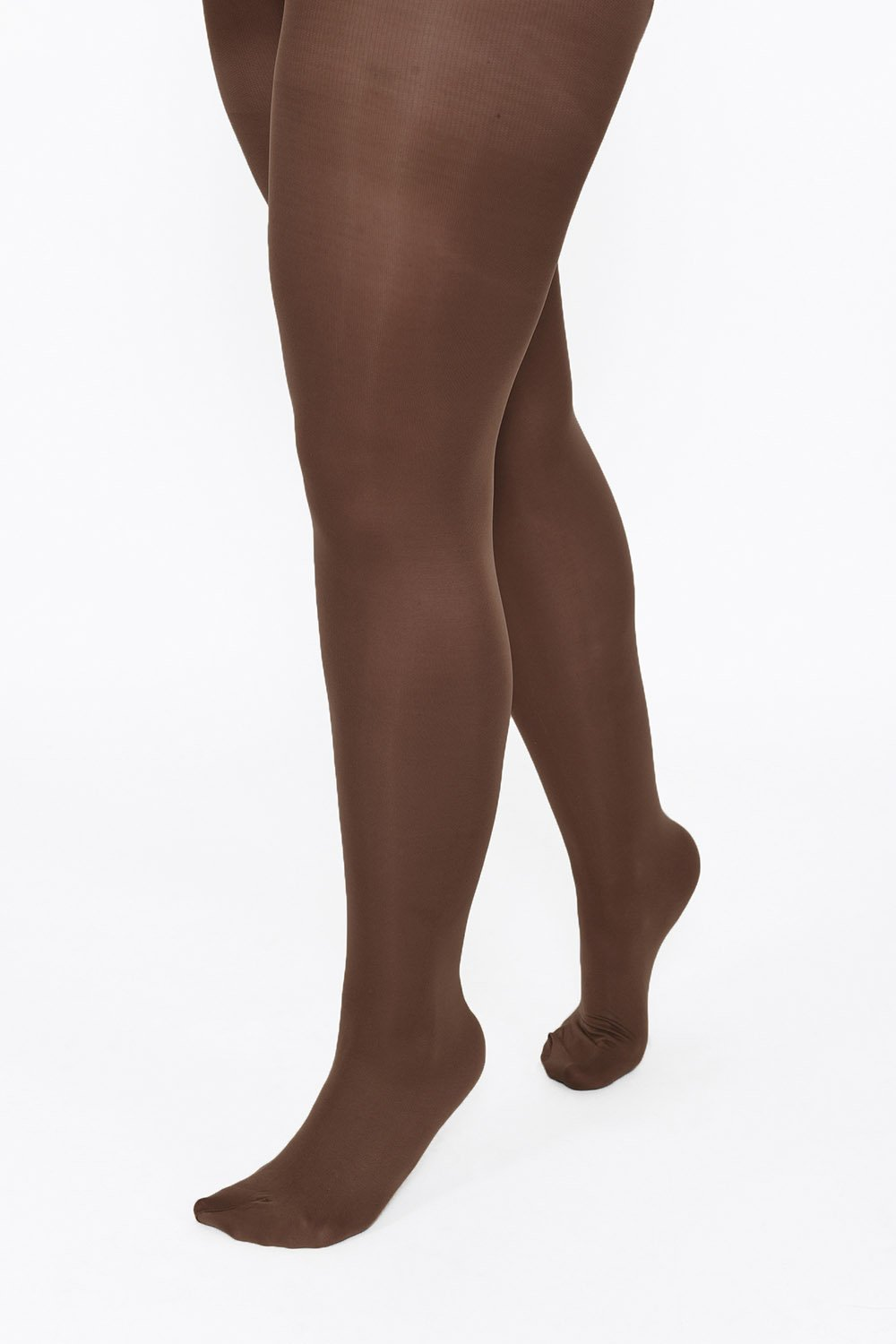Plus Size Dark Brown 60 Denier Tights