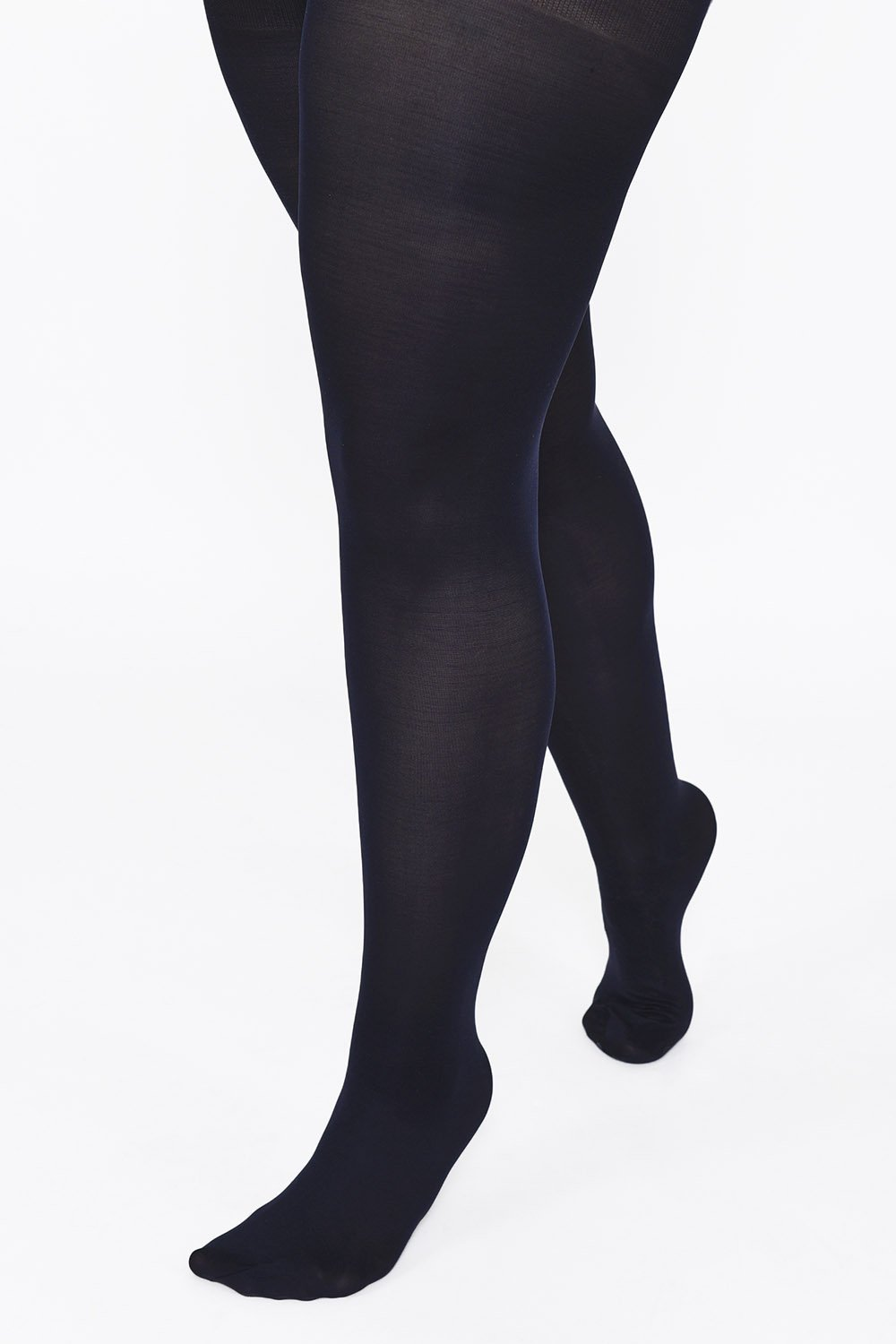 Plus Size Deep Navy 100 Denier Tights