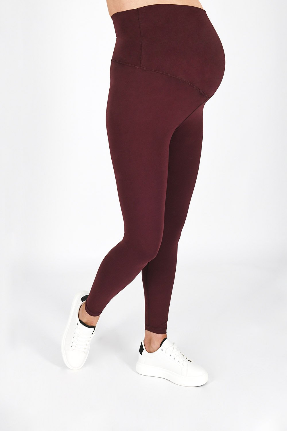 Revitalise 7/8 Winter Berry Maternity Sports Leggings