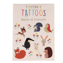 Load image into Gallery viewer, Rusty and Friends Temporary Tattoos