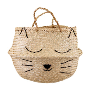 Cats Whiskers Seagrass Sweet Dreams Storage Basket