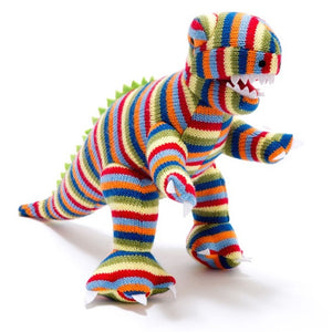 Knitted Stripe T Rex