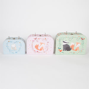 Woodland Friends Suitcase Set