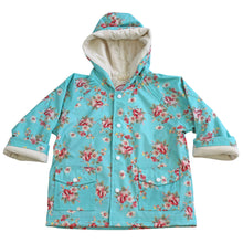Load image into Gallery viewer, Blue Floral Raincoat
