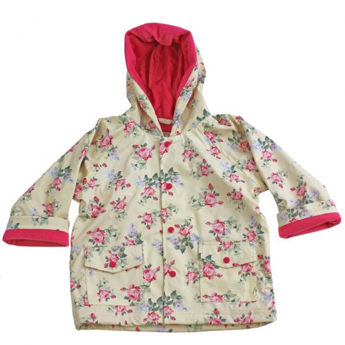 Cream Floral Raincoat