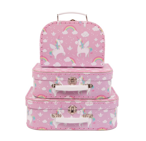 Unicorn Set of 3 Suitcases