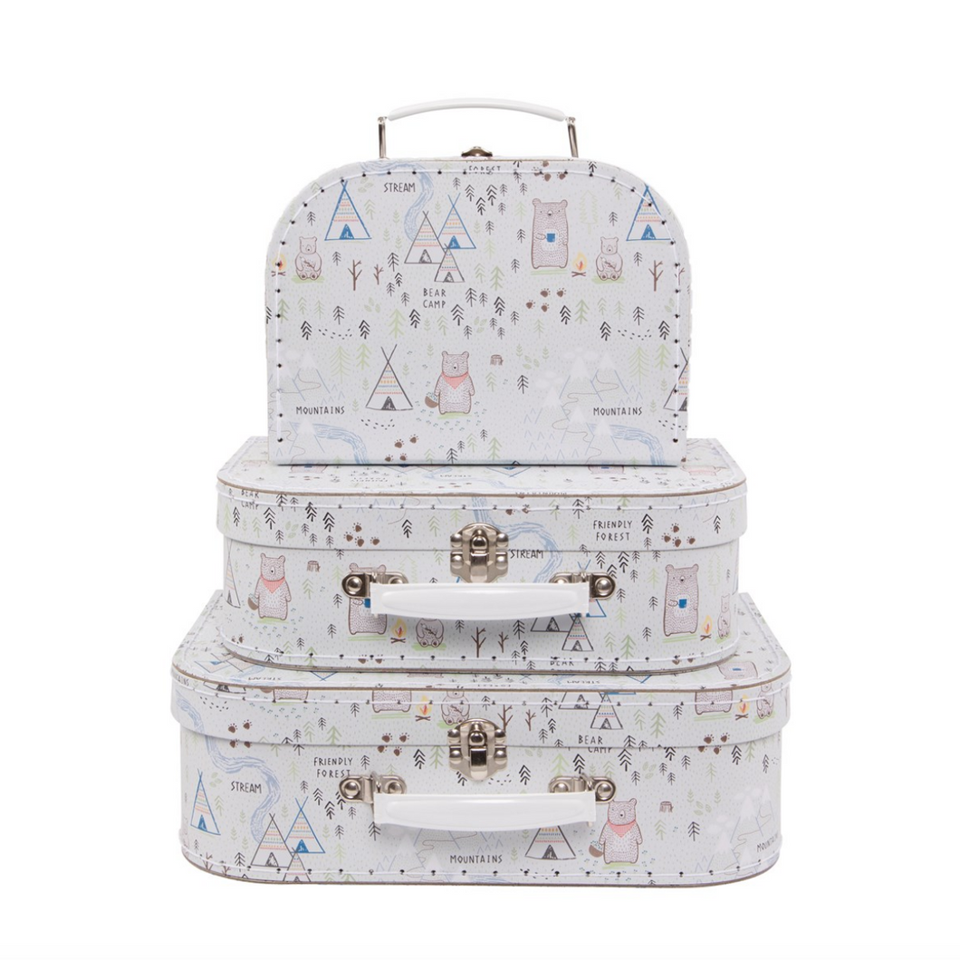 Bear Camp Suitcase Set by Sass & Belle