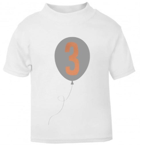 Balloon Birthday T Shirt