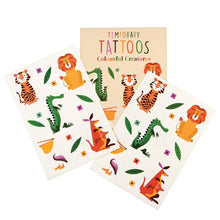 Load image into Gallery viewer, Colourful Creatures Temporary Tattoos