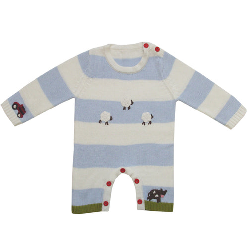 Farmyard Knitted Romper