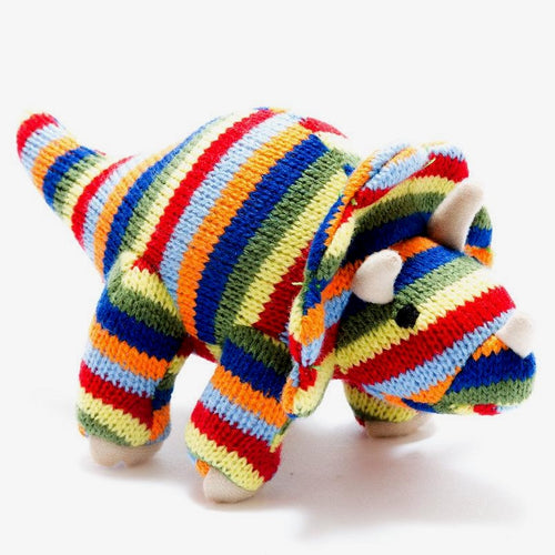 Stripe Triceratops Rattle