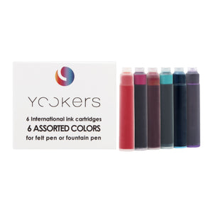 Yookers 6 international ink cartridges Assorted Colours