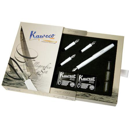 Kaweco Classic Sport Calligraphy Set - White Calligraphy - we love pens