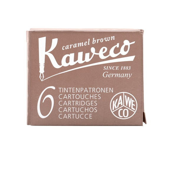 Kaweco Ink Cartridges - Caramel Brown - Standard International Size