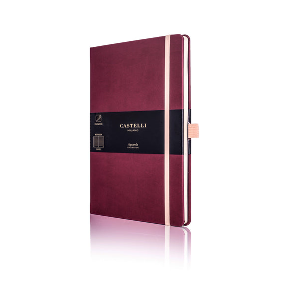 Aquarela Medium Ruled Notebook - Black Cherry