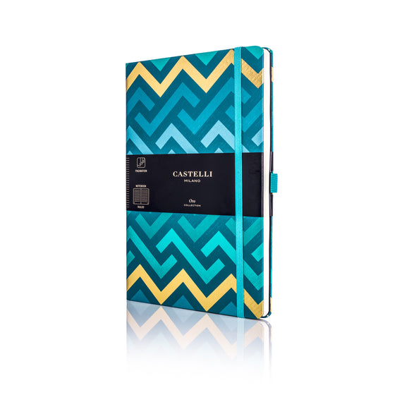 Oro Pocket Ruled Notebook - Labyrinths