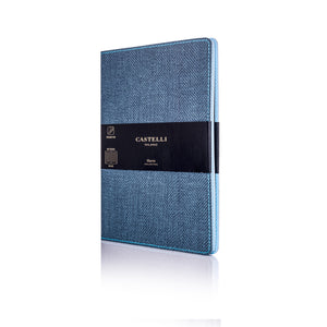 Harris Medium Ruled Flexible Notebook - Slate Blue